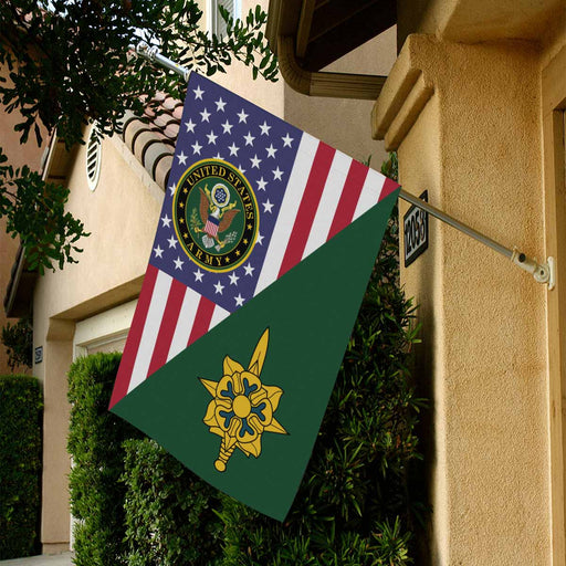 US Army Military Intelligence Branch House Flag 28 Inch x 40 Inch Twin-Side Printing