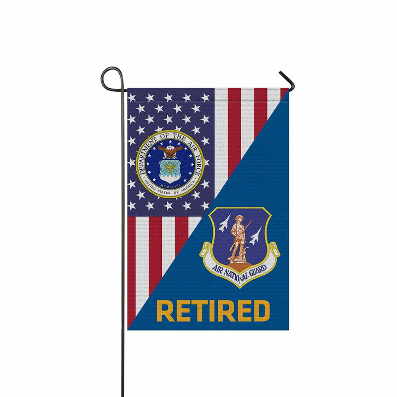 US Air Force Air National Guard  Retired Garden Flag 12'' x 18'' Twin-Side Printing