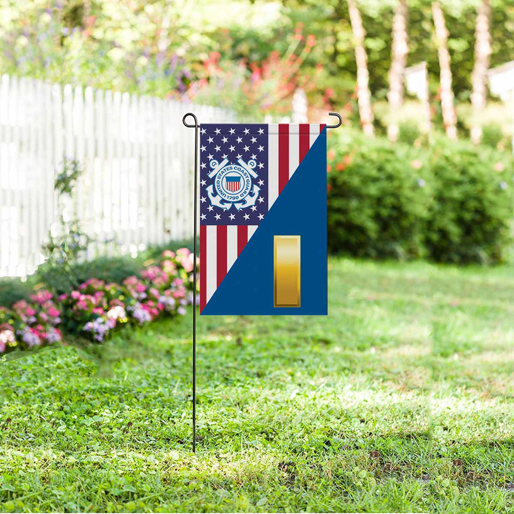US Coast Guard O-1 Ensign O1 ENS Junior Officer Garden Flag 12'' x 18'' Twin-Side Printing