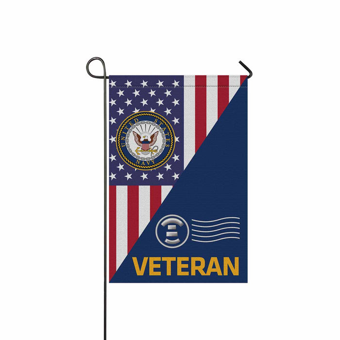 Navy Postal Clerk Navy PC Veteran Garden Flag 12'' x 18'' Twin-Side Printing