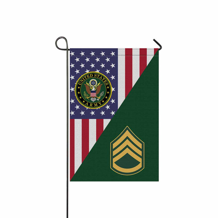 US Army E-6 Staff Sergeant E6 SSG Noncommissioned Officer Garden Flag 12'' x 18'' Twin-Side Printing