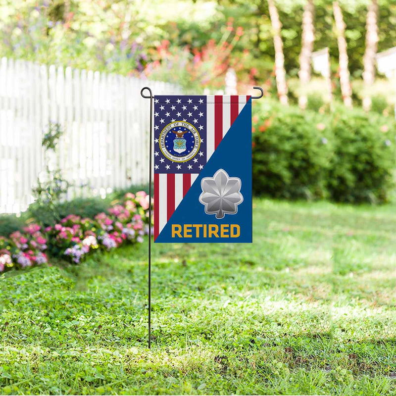 US Air Force O-5 Lieutenant Colonel Lt Co O5 Retired Garden Flag 12'' x 18'' Twin-Side Printing