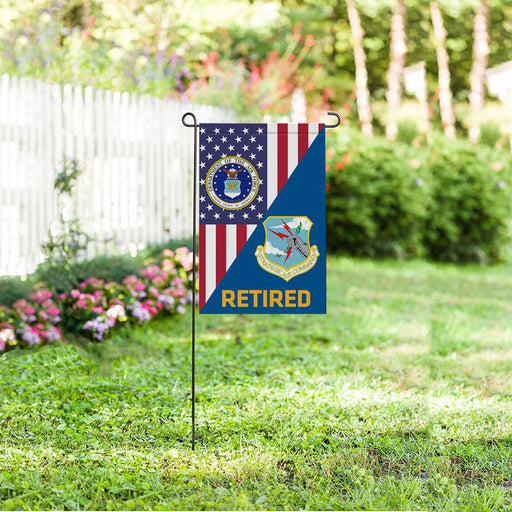 US Air Force Strategic Air Command  Retired Garden Flag 12'' x 18'' Twin-Side Printing