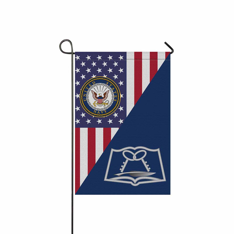 Navy Mess Management Specialist Navy MS Garden Flag 12'' x 18'' Twin-Side Printing