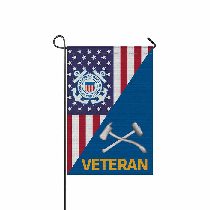 US Coast Guard Damage Controlman DC Veteran Garden Flag 12'' x 18'' Twin-Side Printing
