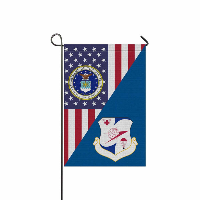 US Air Force 322d Airlift Division Garden Flag 12'' x 18'' Twin-Side Printing