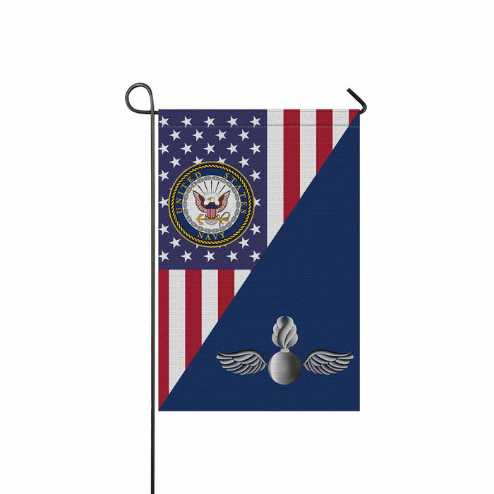 Navy Aviation Ordnanceman Navy AO Garden Flag 12'' x 18'' Twin-Side Printing