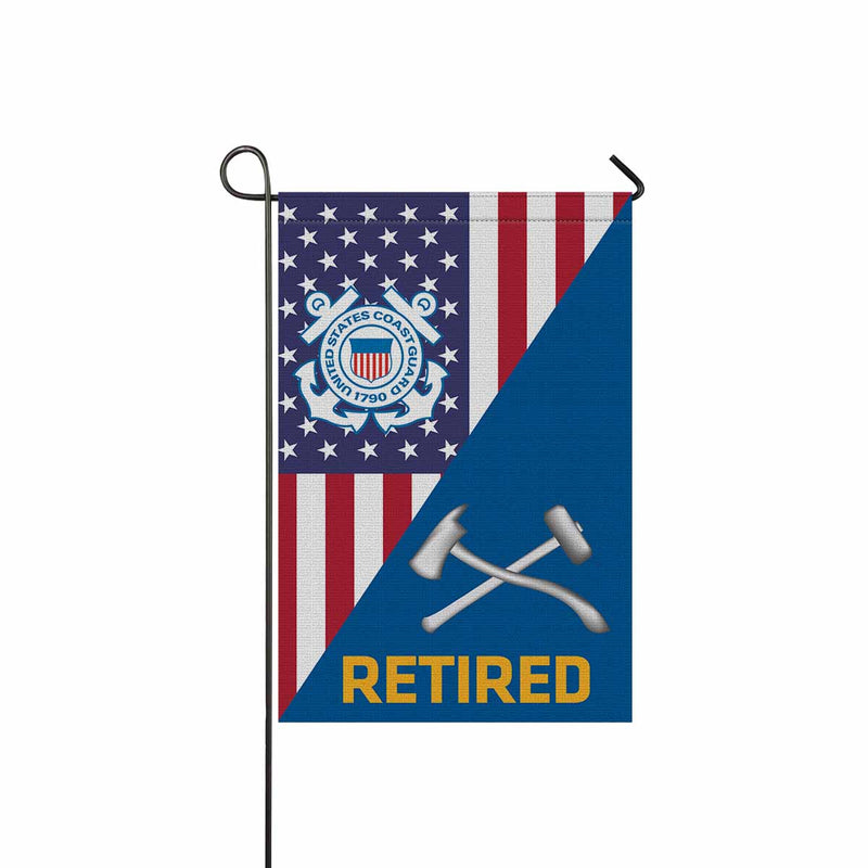 US Coast Guard Damage Controlman DC Retired Garden Flag 12'' x 18'' Twin-Side Printing
