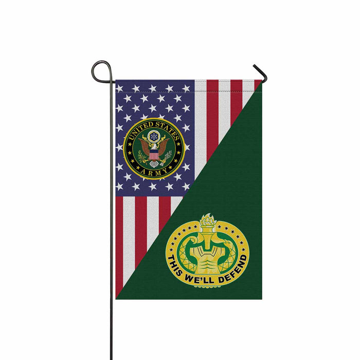US Army Drill Sergeant Garden Flag 12 Inch x 18 Inch Twin-Side Printing