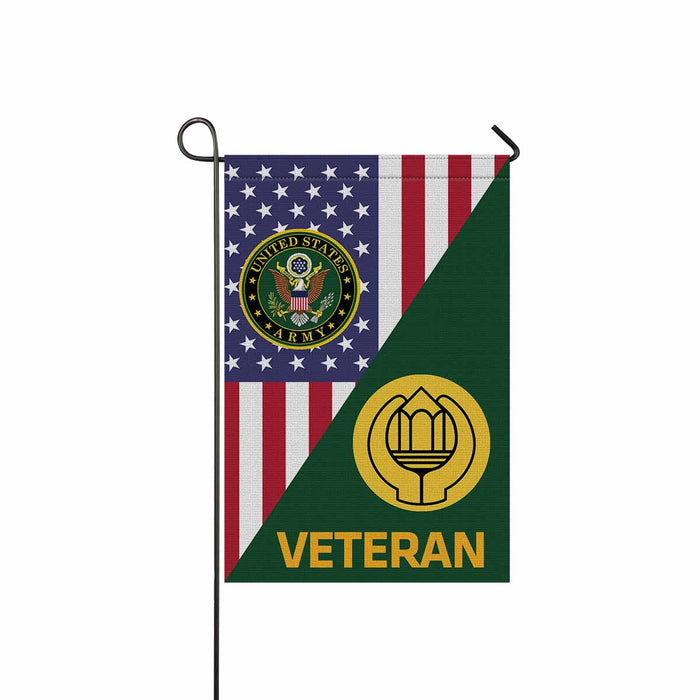 US Army Chaplain Assistant Veteran Garden Flag 12 Inch x 18 Inch Twin-Side Printing