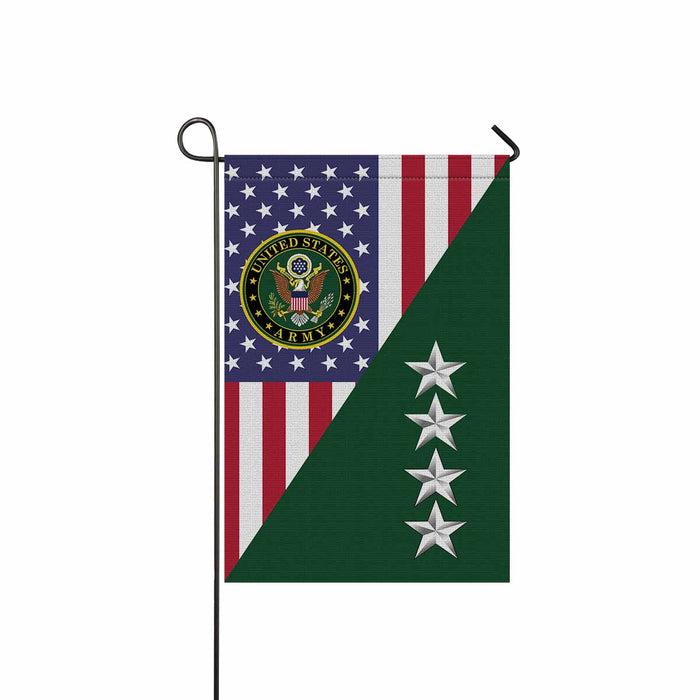 US Army O-10 General O10 GEN General Officer Garden Flag 12'' x 18'' Twin-Side Printing