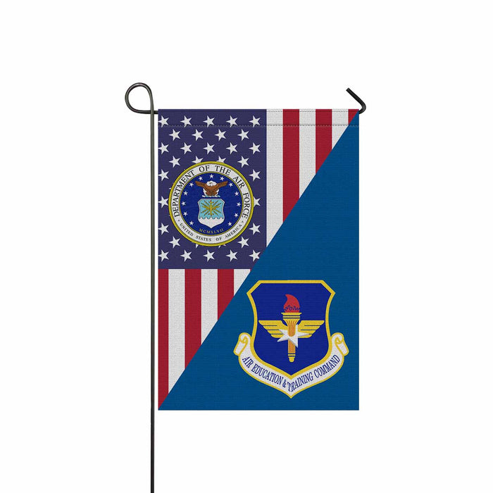 US Air Force Air Education and Training Command Garden Flag 12'' x 18'' Twin-Side Printing