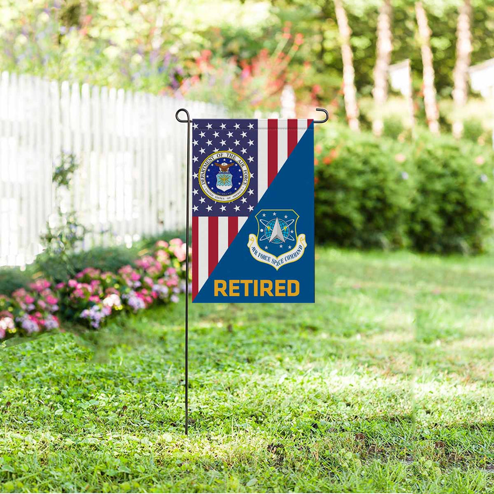 US Air Force Space Command  Retired Garden Flag 12'' x 18'' Twin-Side Printing