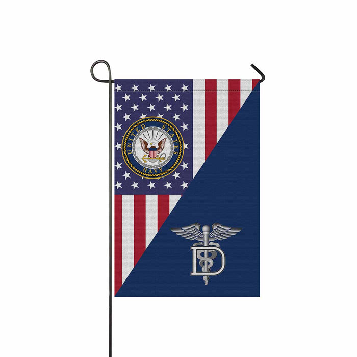 Navy Dental Technician Navy DT Garden Flag 12'' x 18'' Twin-Side Printing