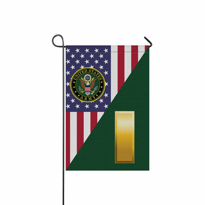 US Army O-1 Second Lieutenant O1 2LT Commissioned Officer Garden Flag 12'' x 18'' Twin-Side Printing