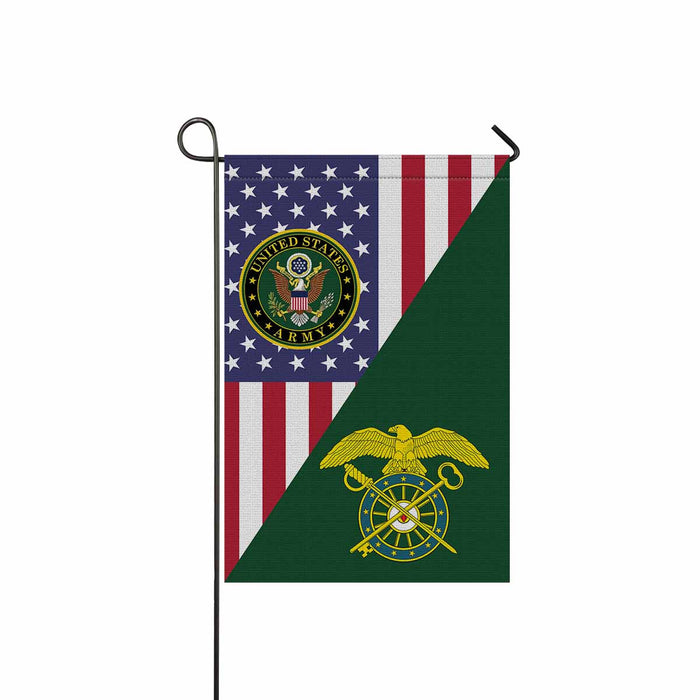 US Army Quartermaster Corps Garden Flag 12 Inch x 18 Inch Twin-Side Printing