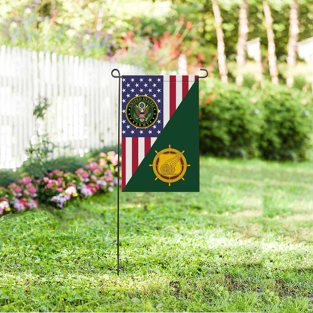 U.S. Army Transportation Corps Garden Flag 12 Inch x 18 Inch Twin-Side Printing