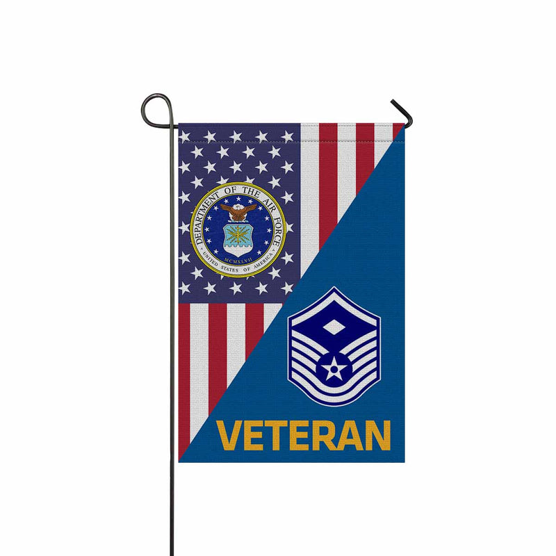 US Air Force E-7 First sergeant E-7 Veteran Garden Flag 12'' x 18'' Twin-Side Printing