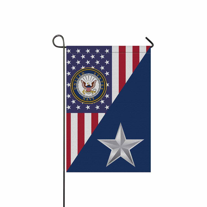 US Navy O-7 Rear Admiral Lower Half O7 RDML Flag Officer Garden Flag 12'' x 18'' Twin-Side Printing