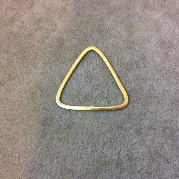 Large Sized Gold Plated Copper Open Rounded Triangle Shaped Components - Measuring 32mm x 33mm - Sold in Packs of 10 Components (221-GD)