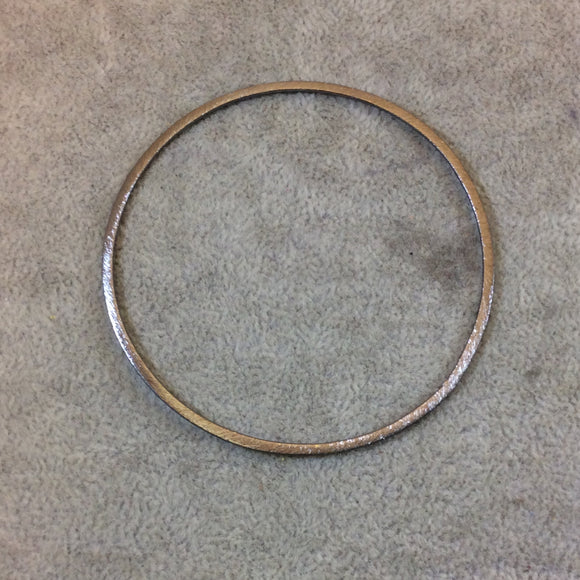70mm Gunmetal Brushed Finish Open Circle/Ring/Hoop Shaped Plated Copper Components - Sold in Pre-Counted Bulk Packs of 10 Pieces - (012-GM)