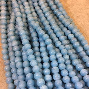 "7mm Glossy Turquoise Blue Quality Irregular Rondelle Shape Indian Ceramic Beads - Sold by 16.25"" Strand - Approximately 64 Beads"