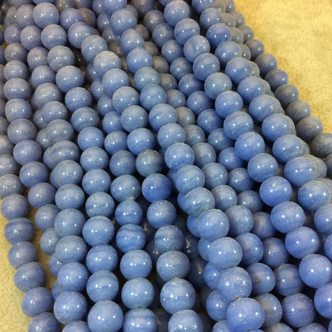 "8mm Glossy Sky Blue Quality Irregular Rondelle Shape Indian Ceramic Beads - Sold by 16.25"" Strand - Approximately 51 Beads per Strand"