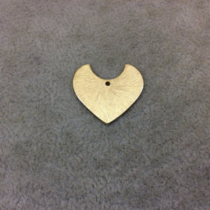 Medium Sized Gold Plated Copper Blank Pointed Heart/Shield Shaped Pendant Components - Measuring 22mm x 20mm - Sold in Packs of 10 (239-GD)