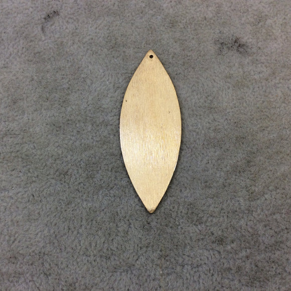 20mm x 56mm Gold Brushed Finish Blank Marquise Shaped Plated Copper Components - Sold in Pre-Counted Bulk Packs of 10 Pieces - (084-GD)