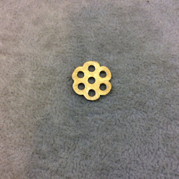 Small Sized Gold Plated Copper Open Cutout Honeycomb/Flower Shaped Components - Measuring 16mm x 16mm - Sold in Packs of 10 (245-GD)