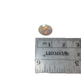 "1.715 Carat Faceted Genuine Ethiopian Opal Oval Cut Stone ""F-T"" - Measuring 8mm x 10mm with 4.5mm Pavillion (Base) and 1mm Crown (Top)"