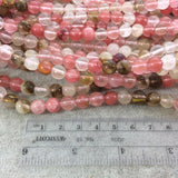 "10mm Smooth Manmade Cherry Quartz Round/Ball Shaped Beads with 1mm Holes - Sold by 15"" Strands (Approx. 38 Beads) - Synthetic Gemstone"