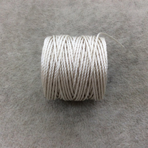 FULL SPOOL - Beadsmith S-Lon 400 Cream Nylon Macrame/Jewelry Cord - Measuring 0.9mm Thick - 35 Yards (105 Feet) - (SL400-CR)