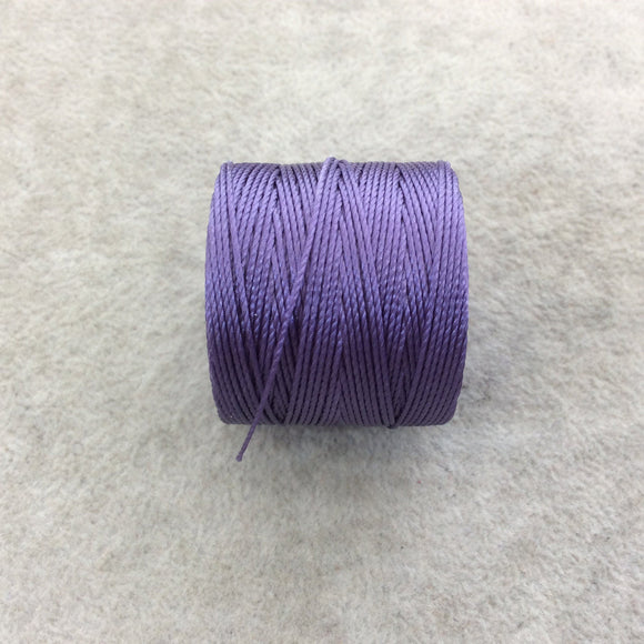 FULL SPOOL - Beadsmith S-Lon 210 Medium Purple Nylon Macrame/Jewelry Cord - Measuring 0.5mm Thick - 77 Yards (231 Feet) - (SL210-MDP)