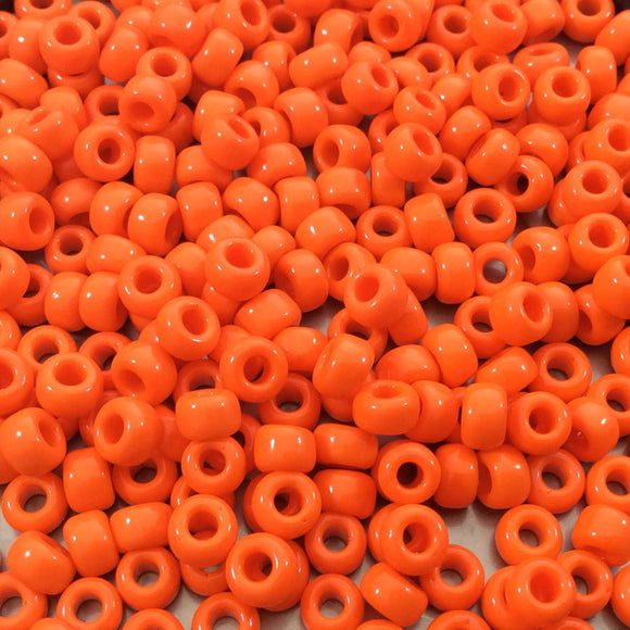 Size 6/0 Opaque Glossy Regular Orange Genuine Miyuki Glass Seed Beads - Sold by 20 Gram Tubes (Approx. 200 Beads per Tube) - (6-9406)