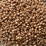 Size 8/0 Glossy Galvanized Yellow Gold Genuine Miyuki Glass Seed Beads - Sold by 22 Gram Tubes (Approx. 900 Beads per Tube) - (8-91053)