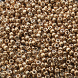 Size 8/0 Glossy Galvanized Metallic Gold Genuine Miyuki Glass Seed Beads - Sold by 22 Gram Tubes (Approx. 900 Beads per Tube) - (8-91052)