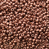 Size 8/0 Glossy Finish Bright Copper Plated Genuine Miyuki Glass Seed Beads - Sold by 22 Gram Tubes (Approx 900 Beads per Tube) - (8-9187)
