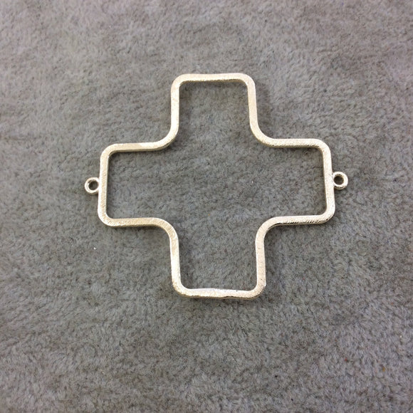 Large Sized Gold Plated Copper Open Cross/Plus Sign Shaped Connector Components - Measuring 52mm x 52mm - Sold in Packs of 10 (194-GD)