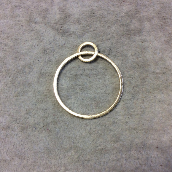 Large Sized Gold Plated Copper Open Double Circle/Ring Shaped Components - Measuring 12mm, 37mm - Sold in Packs of 10 Pieces (276-GD)