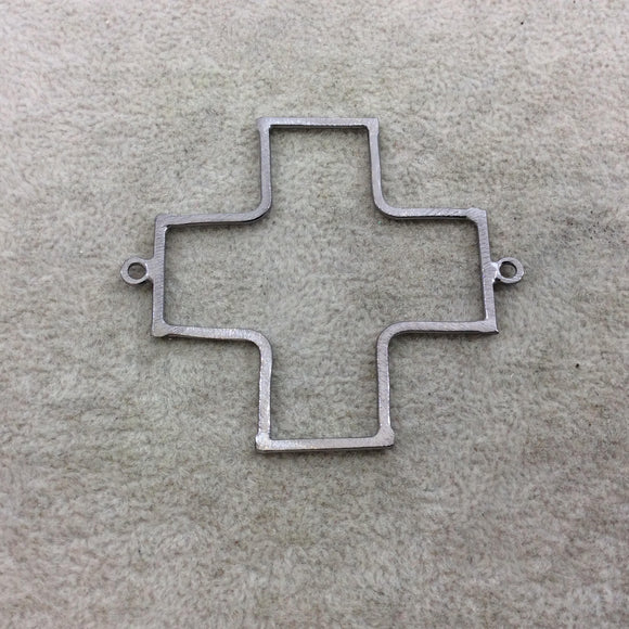 Large Gunmetal Plated Copper Open Cross/Plus Sign Shaped Connector Components - Measuring 52mm x 52mm - Sold in Packs of 10 (194-GM)