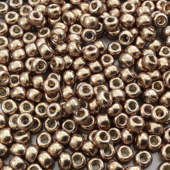 Size 6/0 Duracoat Galvanized Champagne Genuine Miyuki Glass Seed Beads - Sold by 20 Gram Tubes (Approx. 200 Beads per Tube) - (6-94204)