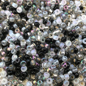 Size 8/0 Assorted Finish Pebble Mix Genuine Miyuki Glass Seed Beads - Sold by 22 Gram Tubes (Approx. 900 Beads per Tube) - (8-9MIX13)