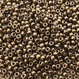 Size 8/0 Glossy Finish Metallic Dark Bronze Genuine Miyuki Glass Seed Beads - Sold by 22 Gram Tubes (Approx. 900 Beads per Tube) - (8-9457)
