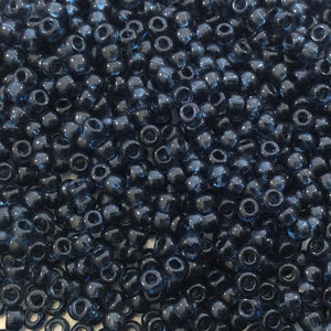 Size 8/0 Glossy Finish Trans. Montana Blue Genuine Miyuki Glass Seed Beads - Sold by 22 Gram Tubes (Approx. 900 Beads per Tube) - (8-92411)