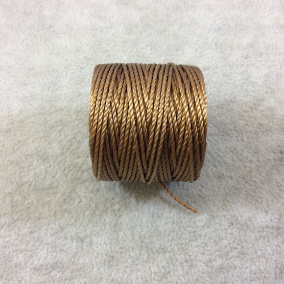 FULL SPOOL - Beadsmith S-Lon 400 Milk Chocolate Brown Nylon Macrame/Jewelry Cord - Measuring 0.9mm Thick - 35 Yards (105 Feet) - (SL400-CH)