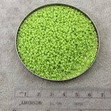 Size 11/0 Glossy Finish Opaque Chartreuse Genuine Miyuki Glass Seed Beads - Sold by 23 Gram Tubes (Approx. 2500 Beads per Tube) - (11-9416)