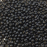 "Size 8/0 Glossy Finish Black Coated Brass Seed Beads with 1.1mm Holes - Sold by 5"", 36 Gram Tubes (Approx. 900 Beads per Tube) - (MT8-BLK)"