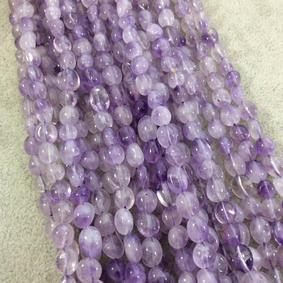 Natural Light Amethyst Freeform Nugget Shape Beads with 1mm Holes - Sold by 15.5
