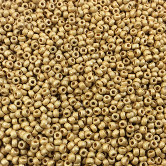Size 11/0  Duracoat Galvanized Matte Gold Genuine Miyuki Glass Seed Beads - Sold by 23 Gram Tubes (~2500 Beads per Tube) - (11-94202F)
